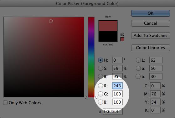 RGB in photoshop