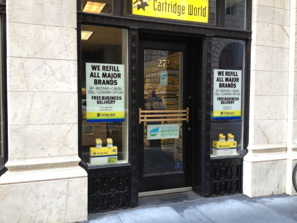 Cartridge World window signs