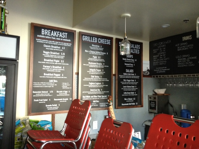 American Grilled Cheese Kitchen South Park Menu boards