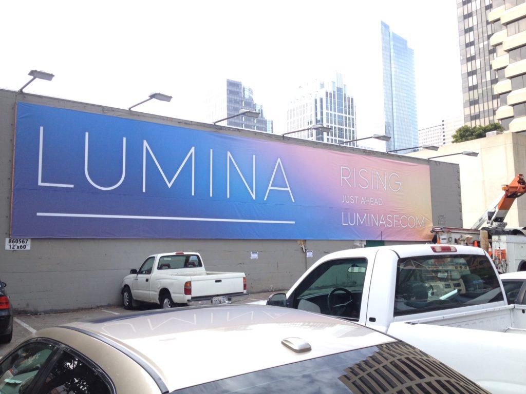 Large format digital printed banner