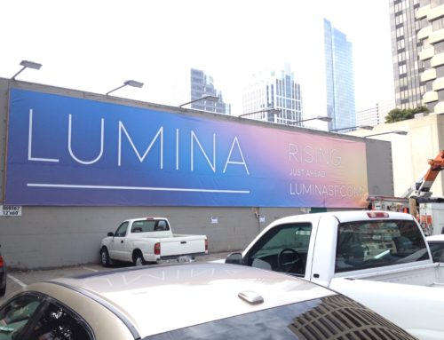 Large Format Digital Printed Banner for Lumina in San Francisco