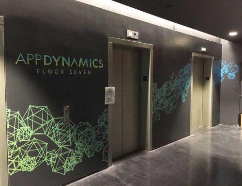 App Dynamics Elevator Lobby Graphics