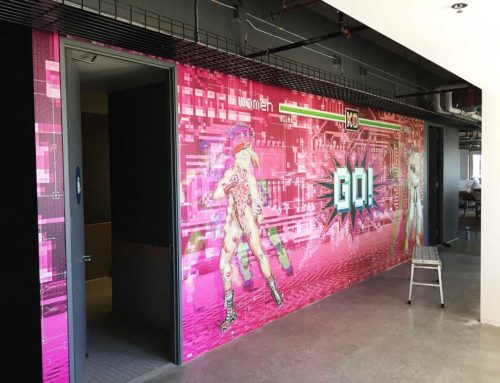 App Dynamics Restroom Wall Mural