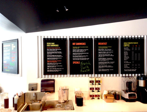Fearless Coffee Menu Board