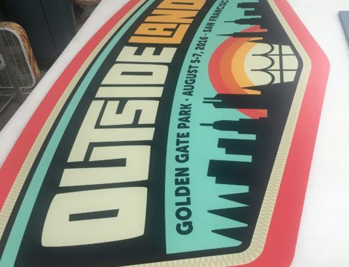 Outside Lands 2016 Sign Printing