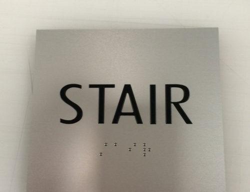 ADA Metal Stair Sign