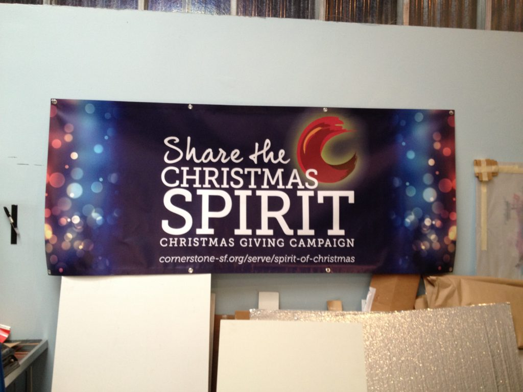 digital printed Christmas Holiday banner