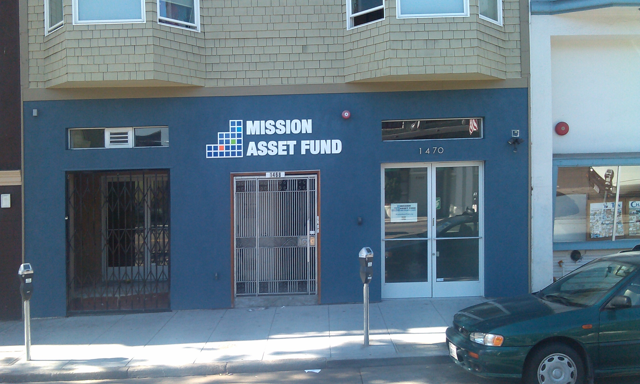Mission Asset Fund Acrylic letters