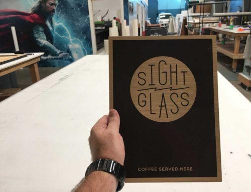 Sightglass Screen Printed Signs