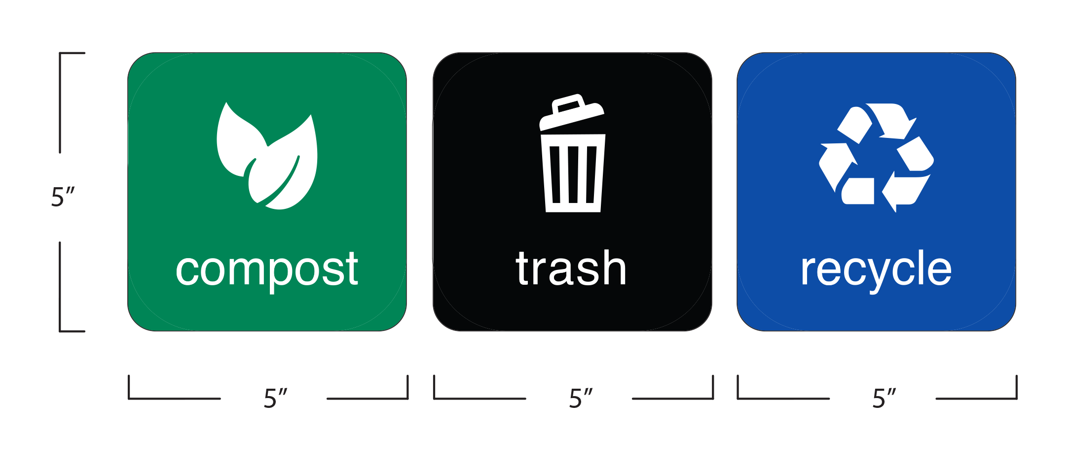 Trash Recycle Compost Martin Sign Co