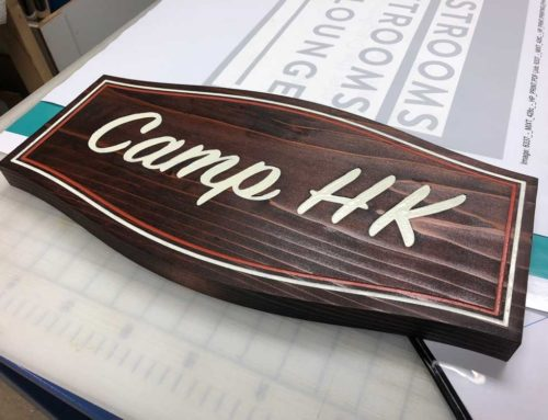 Camp HK Wood Sign