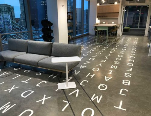 Word-Search Floor Graphics
